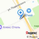 Свет на карте Санкт-Петербурга
