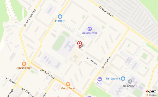 Карта расположения пункта доставки Ростелеком в городе Ковдор