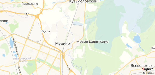 Новое Девяткино на карте