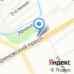 Ленстройтрест на карте Санкт-Петербурга