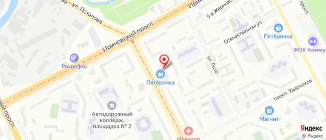 Карта расположения пункта доставки На Наставников в городе Санкт-Петербург