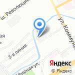 Ржевка-Авто на карте Санкт-Петербурга
