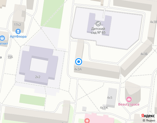 Товарищество собственников жилья «ТСЖ Ленская 4/3» на карте Санкт-Петербурга