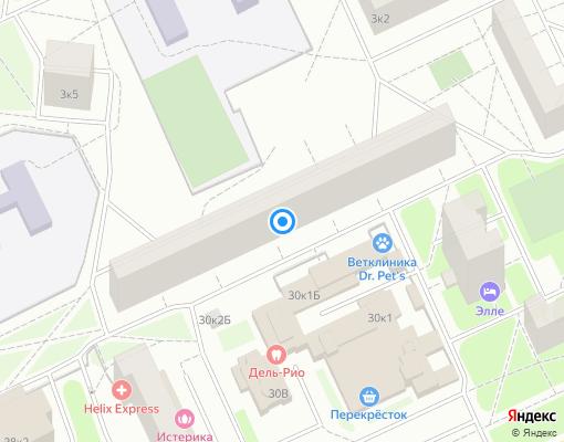 Товарищество собственников жилья «Коллонтай 30 корпус 2» на карте Санкт-Петербурга
