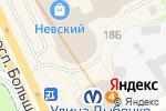 Схема проезда до компании Gluck в Санкт-Петербурге