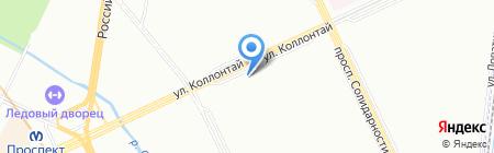Туристо на карте Санкт-Петербурга
