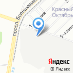 Инкона на карте Санкт-Петербурга