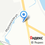 Атлантика на карте Санкт-Петербурга