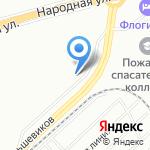 Фартуна на карте Санкт-Петербурга