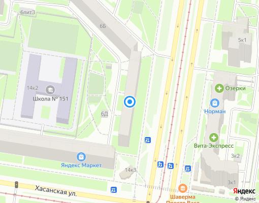 Жилищно-строительный кооператив «ЖСК № 1108» на карте Санкт-Петербурга