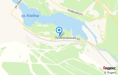 Местоположение на карте пункта техосмотра по адресу Мурманская обл, г Ковдор, ул Привокзальная, д 1 стр 4
