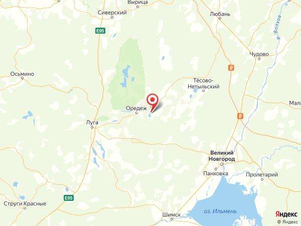 деревня Пожарище на карте
