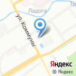 Рыбачок на карте Санкт-Петербурга