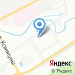 Пеликан на карте Санкт-Петербурга