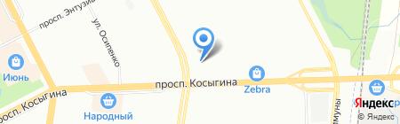 ЭНЭФ на карте Санкт-Петербурга