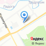 Станция профилактической дезинфекции на карте Санкт-Петербурга