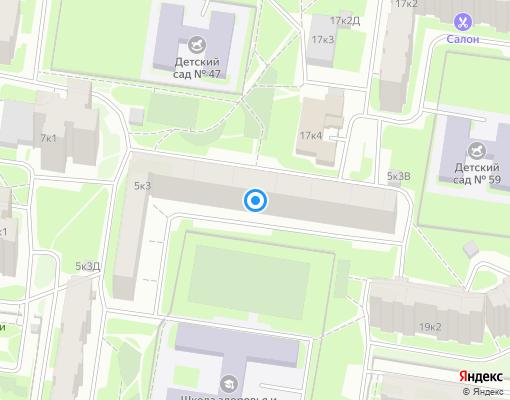 Жилищно-строительный кооператив «ЖСК № 1141» на карте Санкт-Петербурга