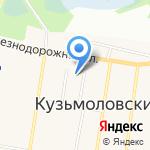 Кузьмоловский на карте Санкт-Петербурга