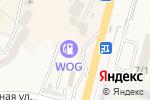 Схема проезда до компании WOG в Вишгороде