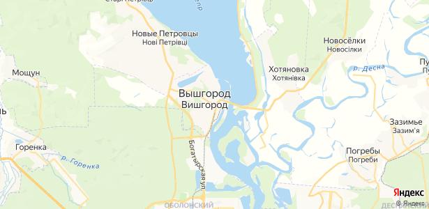Вишгород на карте