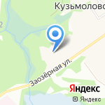 Кузьмолово на карте Санкт-Петербурга