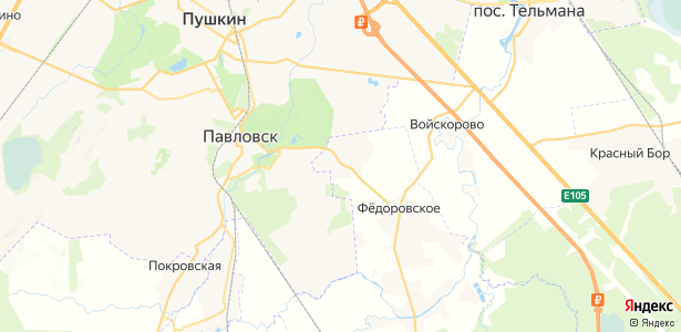 Глинка на карте
