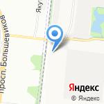 Кристалл на карте Санкт-Петербурга