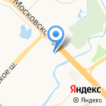 Сеть центров кровельных материалов на карте Санкт-Петербурга