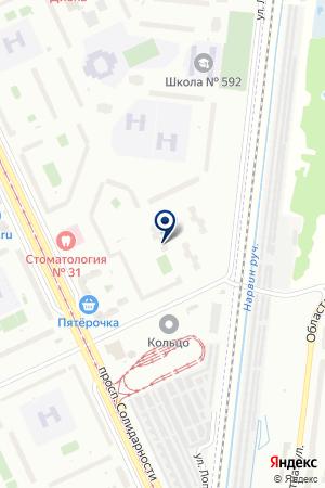 ADAF на карте Санкт-Петербурга