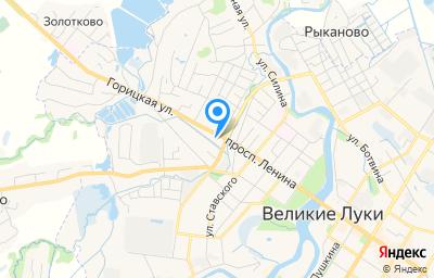 Местоположение на карте пункта техосмотра по адресу Псковская обл, г Великие Луки, ул Горицкая, д 1