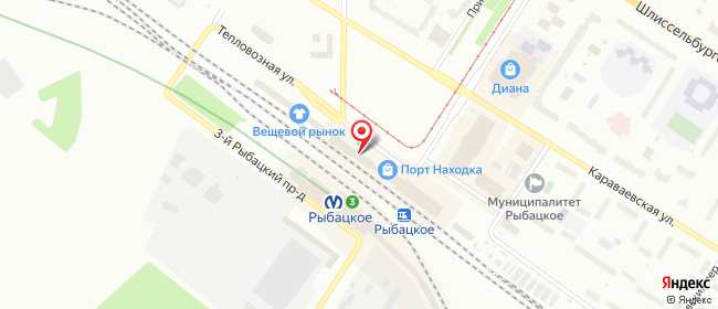 Карта расположения пункта доставки Санкт-Петербург Тепловозная в городе Санкт-Петербург