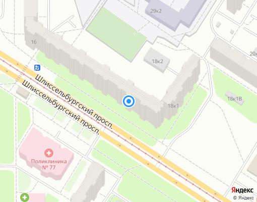 Жилищно-строительный кооператив «Жилищно-строительный кооператив № 1292» на карте Санкт-Петербурга