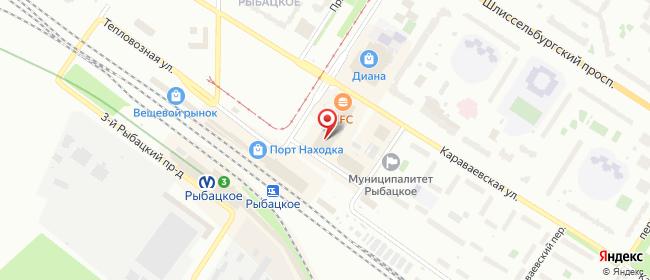 Карта расположения пункта доставки 6166 Постамат ОМНИСДЭК в городе Санкт-Петербург