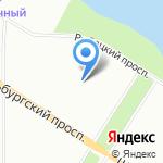 Невская Крепость на карте Санкт-Петербурга