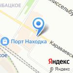 Магазин мебели на карте Санкт-Петербурга