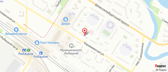 Карта расположения пункта доставки Санкт-Петербург Караваевская в городе Санкт-Петербург