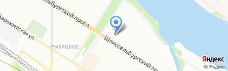 Атланта на карте Санкт-Петербурга
