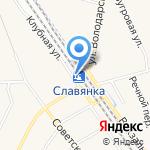 Славянка на карте Санкт-Петербурга