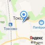 Токсовский мебельный магазин на карте Санкт-Петербурга