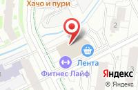 Схема проезда до компании Fitness life в Кудрово