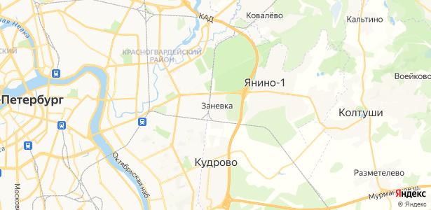 Заневка на карте
