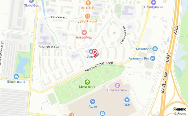 Карта расположения пункта доставки outpost-spb.ru в городе Кудрово