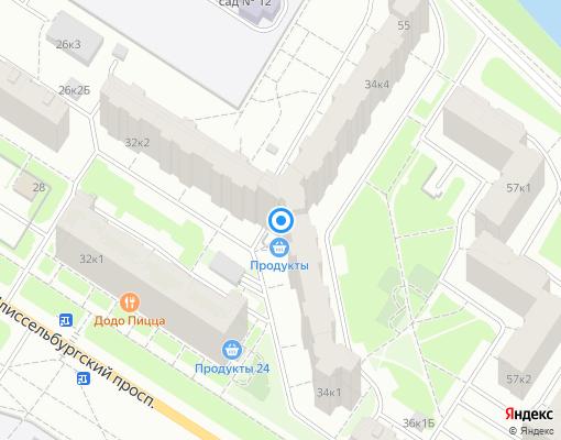 Жилищно-строительный кооператив «ЖСК №1304» на карте Санкт-Петербурга