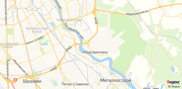 Новосаратовка на карте