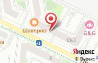 Схема проезда до компании Фиалка в Кудрово