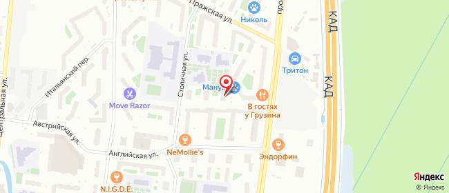 Карта расположения пункта доставки Кудрово Столичная в городе Кудрово