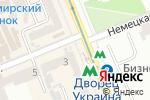 Схема проезда до компании Киоск по продаже косметики в
