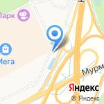 Автомойка на карте Санкт-Петербурга
