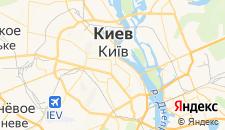 Гостиницы города Киев на карте