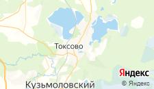 Гостиницы города Токсово на карте